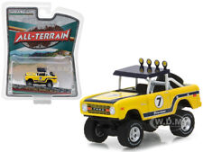 1972 FORD BRONCO BAJA YELLOW ALL TERRAIN 6 1/64 MODEL BY GREENLIGHT 35090 B