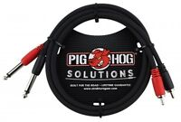 """Pig Hog Solutions - 6ft RCA-1/4"""" Dual Cable, PD-R1406"""