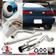 """SS Catback Exhaust System 4"""" Burnt Tip Muffler for 94-01 Acura Integra GS/LS/RS"""