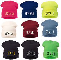 Beanie Hat Mens Ladies Womens Slouch Winter Woolly Ski Knitted Turn Up Tril Warm