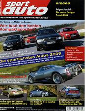 sport auto 5/06 2006 Audi RS4 S6 Avant Jaguar XK BMW 650i Cabrio Pagani Zonda F