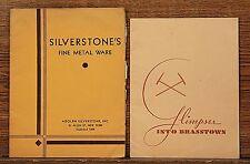 2 Vintage Adolph Silverstone Fine Metalware Catalogs NewYork '30's Copper Brass