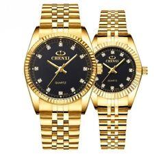 Couples Wrist Watch Stainless Steel Couples Quartz Wristwatch Gift Bracelet Slim