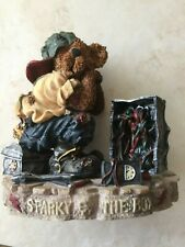 "Vintage Boyds Bears Bearstone Collection ""Sparky & The Box"" Retired 1998 Nib"