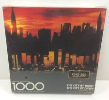 Vintage New Sealed Springbok 1000 Pc Puzzle The City at Night, The City at Dawn