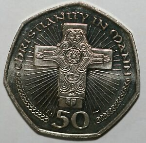 2000 to 2003 Isle of Man Christianity in Man 50p Series Uncirculated Condition