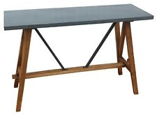 Siri Rustic grey Timber hall table console entrance table timber  base
