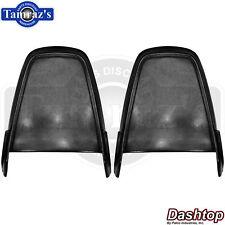 71-72 Mopar A B & E Body Front Bucket Seat Back Plastic Panels BLACK - PAIR