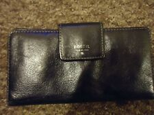 Fossil Black Cowhide Leather Purse/wallet