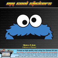 Cookie Monster Peeping Vinyl Sticker Decal, 4X4 Ute Car Window funny peeking