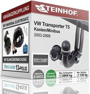 Anhängerkupplung starr Für VW TRANSPORTER T5 03-09+E-SATZ 13polig ABE