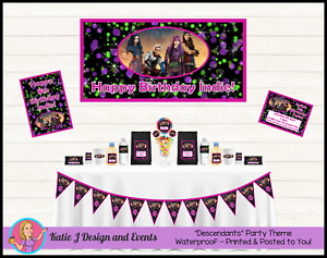 Personalised Descendants Birthday Party Decorations Favours