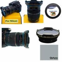 55MM HD3 SERIES 16K FISHEYE LENS + MICRO LENS FOR NIKON D3400 D3500 D5600 D3300