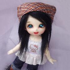 [PF] Black Long Wool Wig / Hair 1 / 8 Pukifee Ae Lati BJD Dollfie 14cm