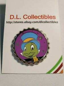 Disney Pinocchio Magical mystery bottle soda cap Jiminy Cricket Pin