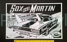 "Sox Martin Drag Racing Art Print Poster Hemi Plymouth Superbird Mopar 11"" by 17"""