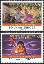 UN (V) 1996 Stories/UNICEF/Bird/Fire/Grimm/Fairy Tales/Eyes 2v set (n31566)