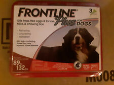 Frontline Plus 89 to 132 lb Flea & Tick Control XL DOGS, 3 Doses EPA APPROVED