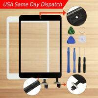 Touch Glass Digitizer Screen IC Chip Home Button Replacement For iPad Mini 1 2
