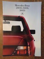 MERCEDES BENZ 200D 250D 300D SALOONS 1985 German Mkt Brochure Prospekt - W124