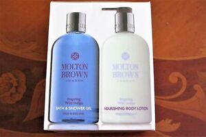 MOLTON BROWN 2 X 300ML INSPIRING WILD INDIGO BATH & SHOWER GEL & BODY LOTION
