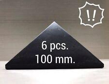 Shungite Pyramid 100 mm (6 pcs) Wholesale Against EMF Natural Protection Healing