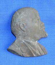 Soviet Russian Revolution Leader LENIN Desk Medal Bronze Bas relief