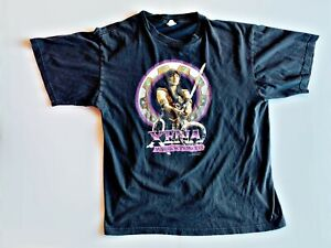 Xena Warrior Princess 1997 Vintage T-Shirt  with sword XL Mens