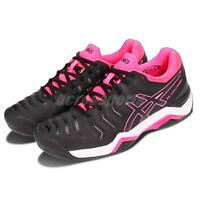 Asics Gel-Challenger 11 Clay Black Pink White Women Tennis Shoes E754Y-9090