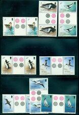 South Georgia #109-23 Complete set, Birds, Gutter pairs, og, Nh, Vf, Scott $80.