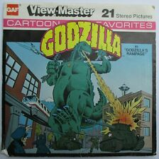 2 VIEW-MASTER 3D BILDSCHEIBEN - GODZILLA