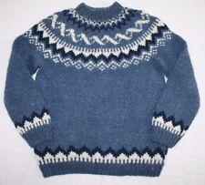 Alafoss Icelandic Icewool Wool Nordic Sweater Women's, Blue, Large