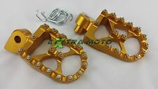 Pedane maggiorate alluminio CNC KTM SX125 SX150 SX250 SX 125 150 250 col ORO