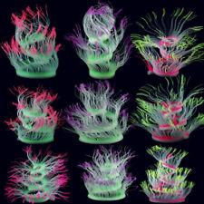 Aquarium Fish Tank Waterplant Decor Glowing Sea Anemone Coral Plant Ornament