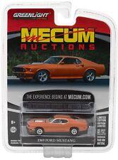 2017 GREENLIGHT 1:64 *MECUM AUCTIONS* ORANGE 1969 Ford Mustang *NIP*