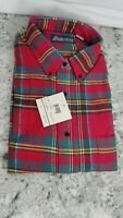 Towncraft Mountain Park Red Green Tartan Plaid Flannel Size L New With Tags