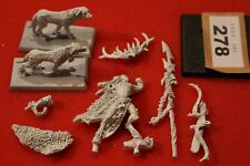 Games Workshop Warhammer Wood Elves Orion King in the Woods Metal Elf OOP Hounds