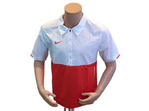 Nike Coach Lightweight Short Sleeve Jacket Red White CI4479-658 Men's Size Large