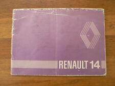 RENAULT 14 HANDLEIDING OWNER'S MANUAL R1210,R1212 CAR AUTO 1981 ?
