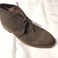 BANANA REPUBLIC Men's Chukka Boots Gray Suede Leather Soles SIZE 10.5 M (f)