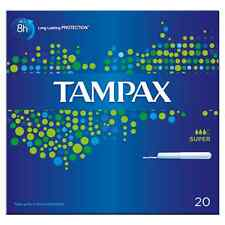 TAMPAX TAMPONS SUPER 20 WITH APPLICATOR