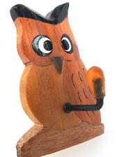Clave De Búho Gancho/llavero hecho a mano en madera de comercio justo. Aprox 6x4cm por namesakes