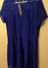 NWT Women Short Sleeve Lace Cocktail Banquet Party Evening Dress 4XL Plus