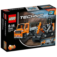 LEGO Technic 42060 Straßenbau-Fahrzeug Kipplaster mit Anhänger & Raupenbagger