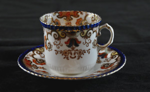 1880's Rare Antique Bone China Radford Teacup and Saucer 130+ years old