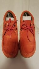 GBX Wallabee Burnt Orange Suede Leather Ankle Hiking Chukka Boots Mens 6.5 M