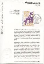FDC / PREMIER JOUR / ART / TABLEAU / ALBERT DECARIS PARIS 2001