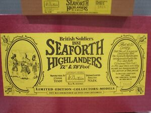 Vintage Britains Seaforth Highlanders Toy Soldiers Boxed Limited Edition.