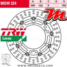 Disque de frein Avant TRW Lucas MSW 224 Hyosung GV 700 (GVC) 2006+
