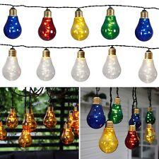 Party Lichterkette GLOW 10 LED-Glühbirnen 3,9m 230V für Innen Außen Garten IP44